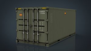spanish military container green model
