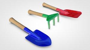 kids garden tools model