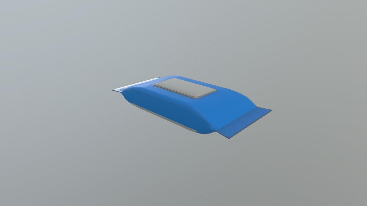 wipes 3D model