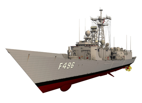3D oliver perry class frigate