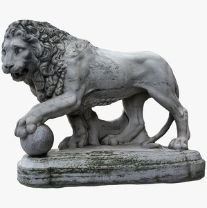 3D medici lion left model