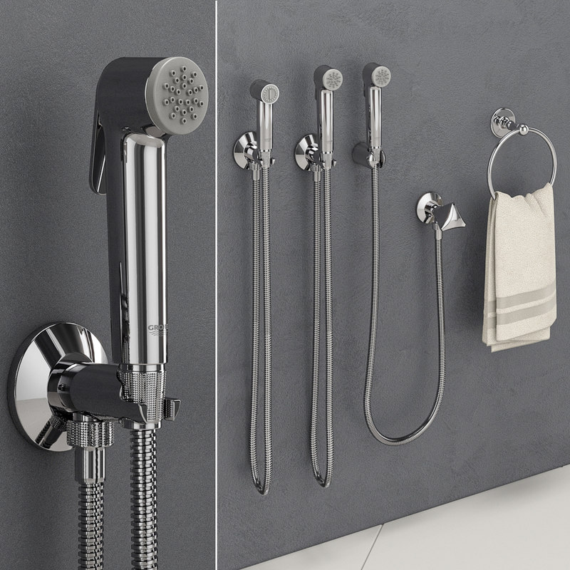 3D hygienic shower grohe tempesta-f