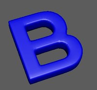 Blunted letter B