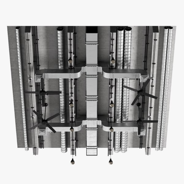 3D model ceiling ventilation 1 2