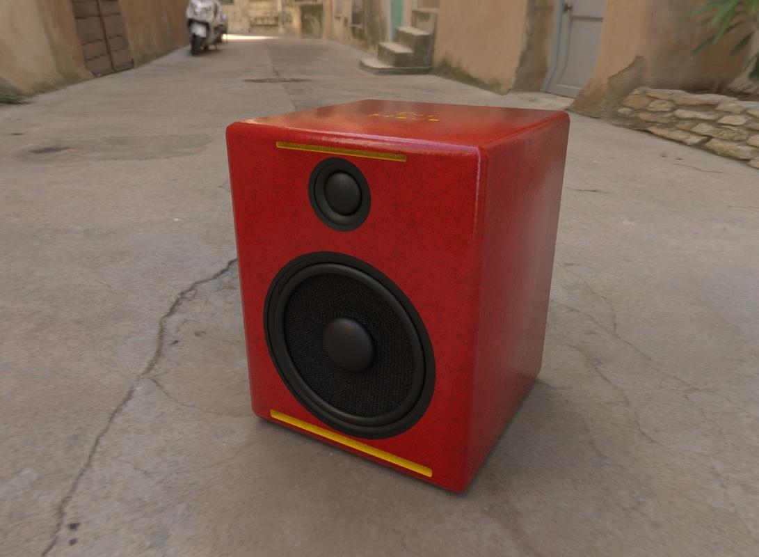 3D speaker modelled houdini