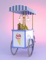 Ice Cream Mobile Handcart [lxo]