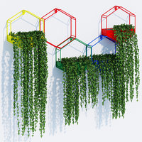 3D hexagon planters
