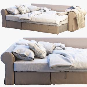 3D ikea backabro 3 sofa model