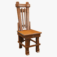 realistic chair 3D