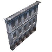 3D old facade model