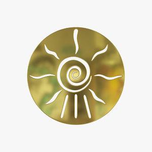 3D universe medallion
