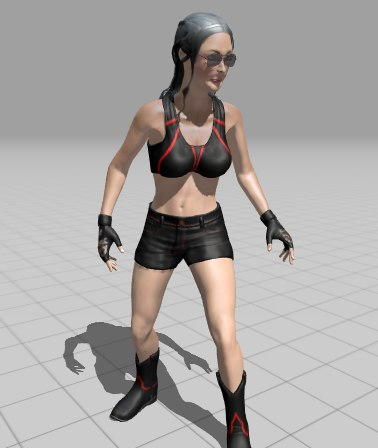 female arrow animation 3D model