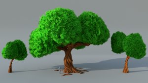 3D trees pack model