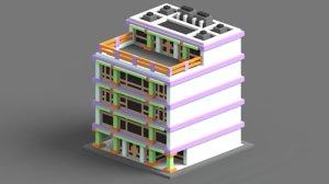 voxel house model