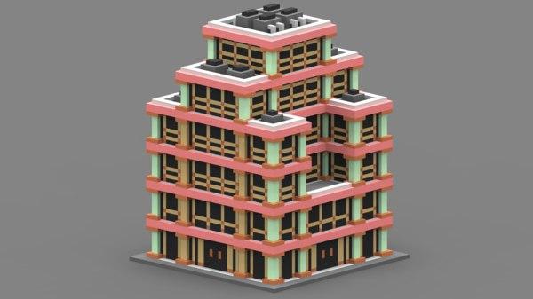 voxel house 3D