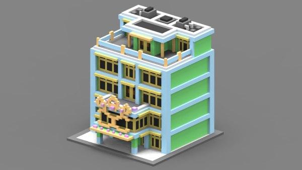 3D voxel house