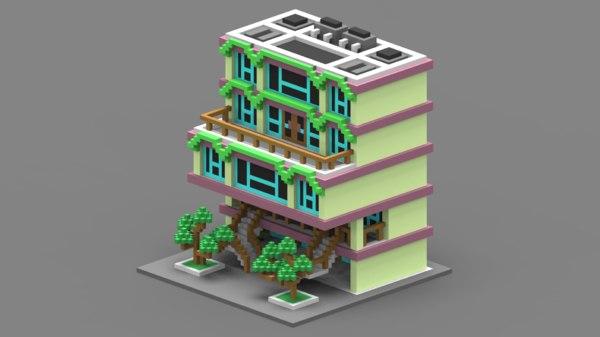 3D voxel house model