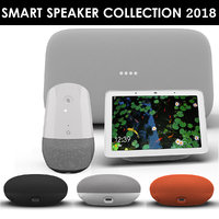google smart speaker 2018 3D
