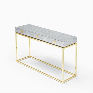 3D delphine desk