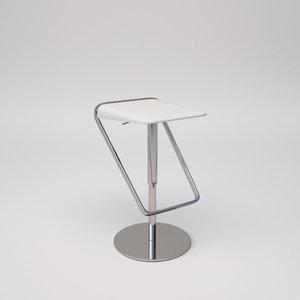 sera bar stool 3D model