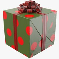 real gift box 3D model