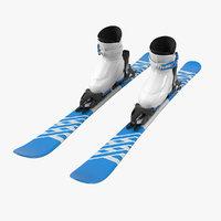 alpine boots ski 3D model
