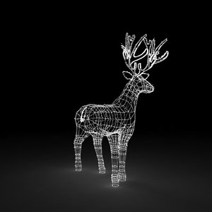 christmas decoration led lighted 3D model