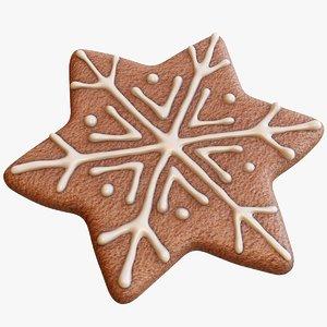 3D gingerbread snowflake