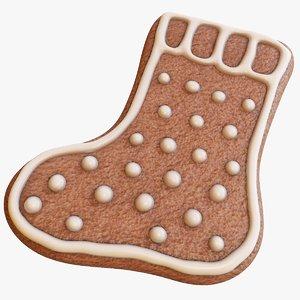 3D model gingerbread sock