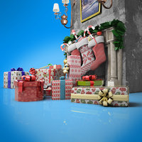 christmas gifts 3D
