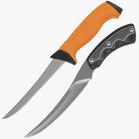 boning knives 3D