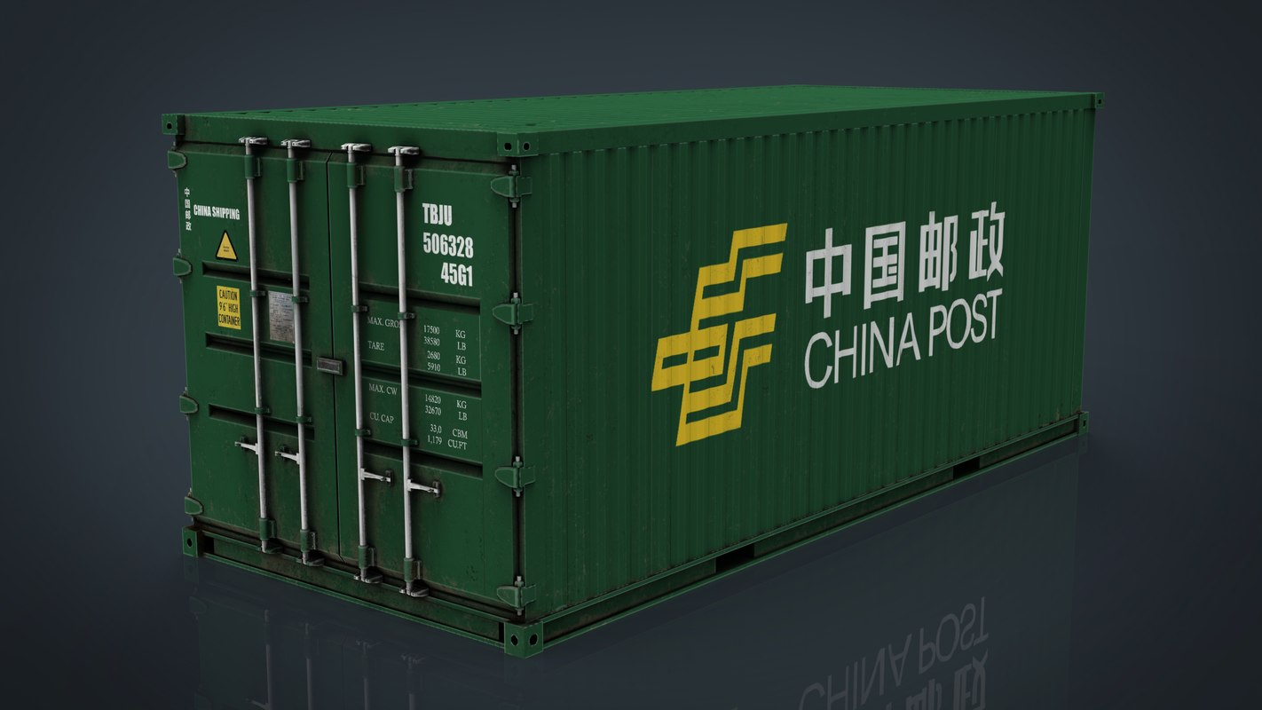 china post container 3D