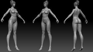 tall girl base mesh model