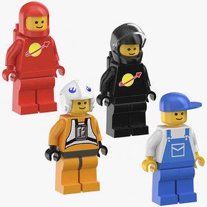 3D lego men