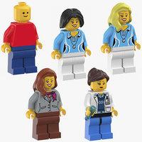 lego women 3D model