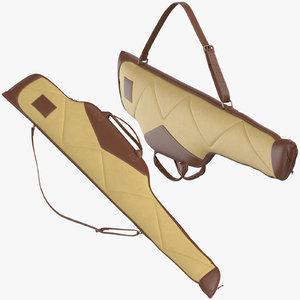 3D rifle case 01 poses model