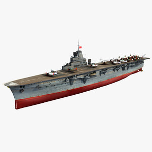 3D japanese aircraft carrier taiho
