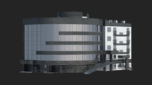 3D residential building office 2 model