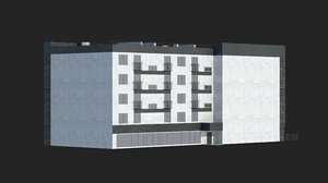 residential building office set 3D model