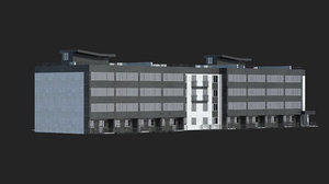3D residential building office set