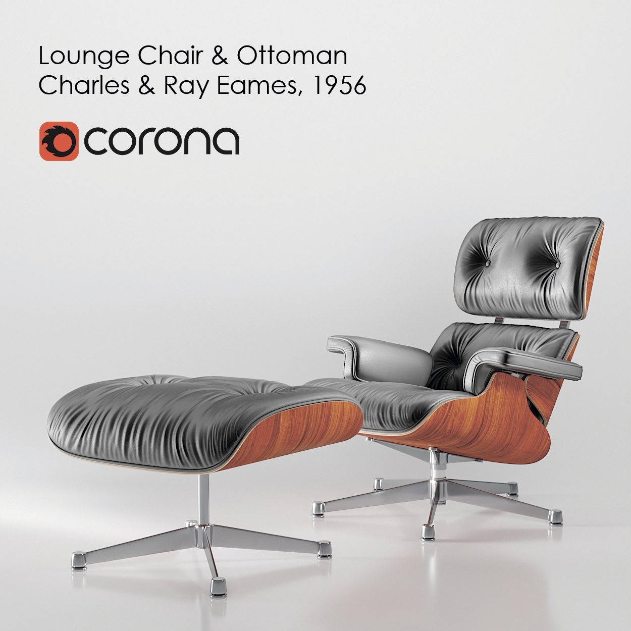 Awesome Lounge Chair Ottoman Charles Ray Eames 1956 Cjindustries Chair Design For Home Cjindustriesco