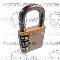 3D cartoon lock