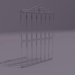 window railing grate 3D model