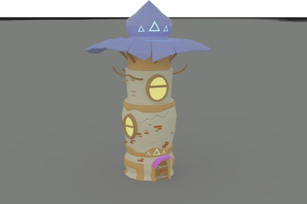 tower magicians 3D model