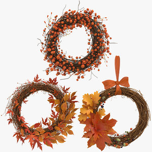 autumn wreaths 3D model