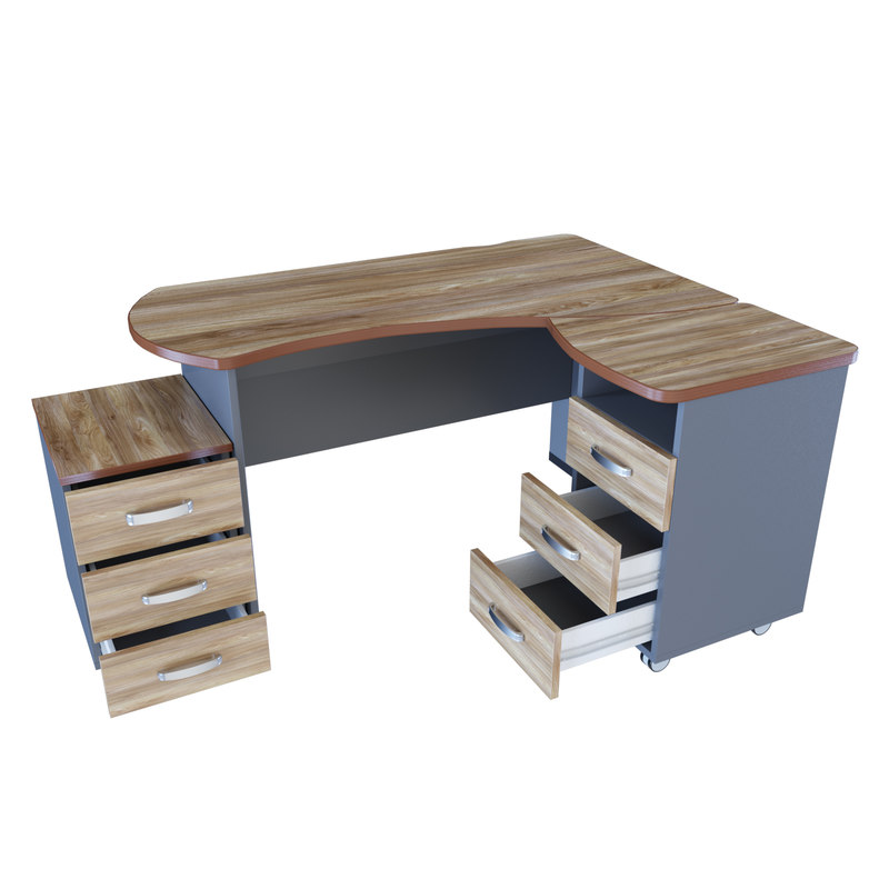3D model desk furniture table