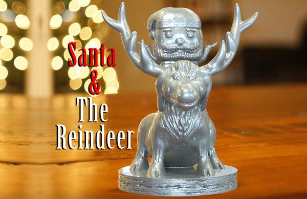 3D santa reindeer