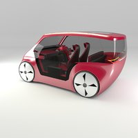 3D concept styled city car