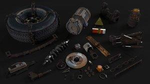 rusty parts 3D model