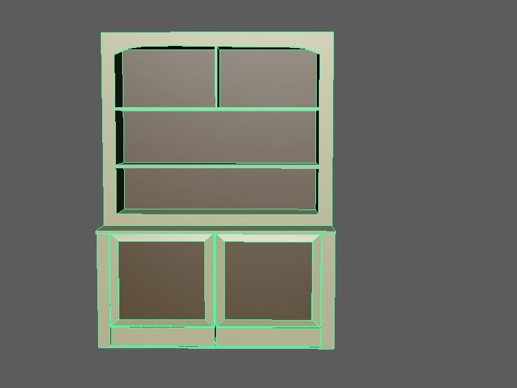 cabinet furniture shelf 3D model